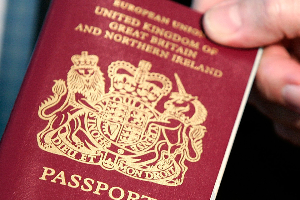 A British passport - UK citizens are being urged to return home