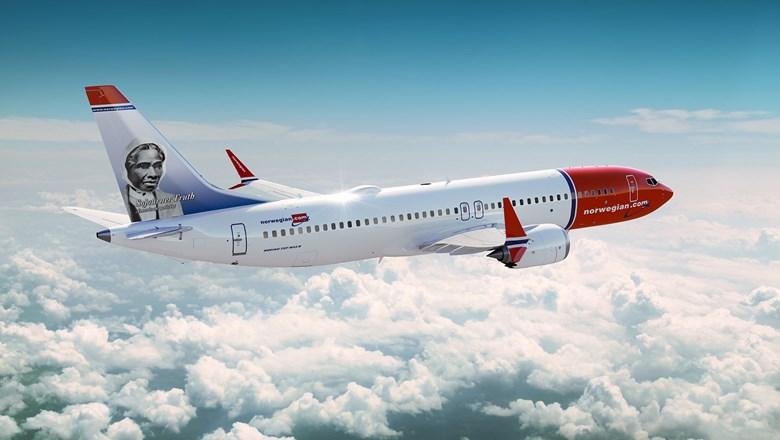 Norwegian airlines plane