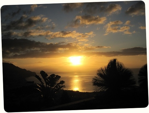 madeira news blog 1001 becky sunrise from Quinta das Vistas on Saturday morning 23 january