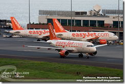 easJet planes at Madeira airport