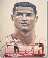 Ronaldo spray painting