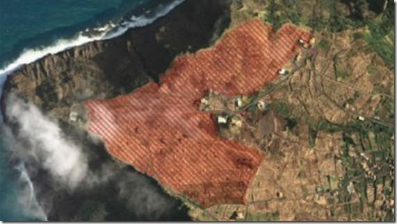 Aeriel view of Ponta do Pargo