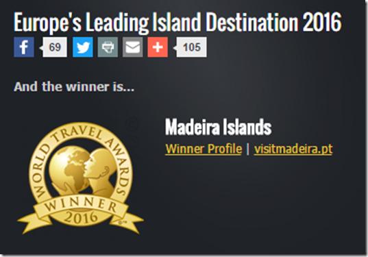 Screensnap of World Travel Awards