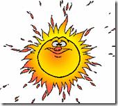 Hot sun clip art
