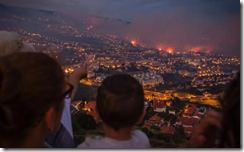 Fires burn in Funchal