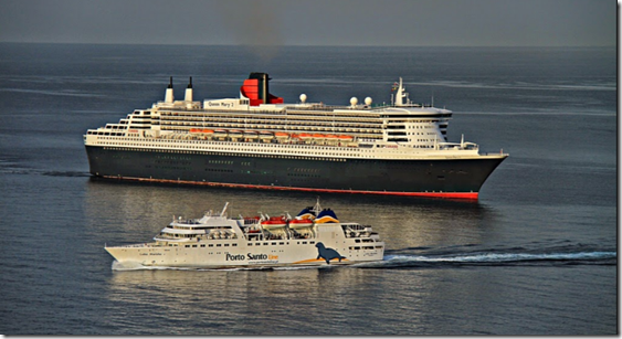 Porto Santo Ferry and Queen Mary 2