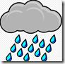 Cloud and rain clipart