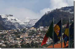 Snow on the peaks above Funchal