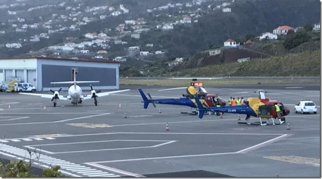 Fire-fighting helicopters at Madeira airport