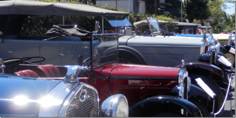 Vintage cars in Funchal