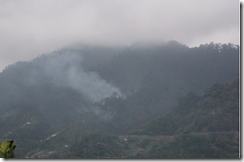 Fire above Machico