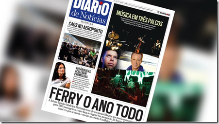Front page of the Diario
