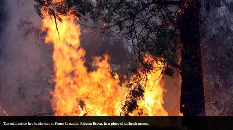 Fire in Ribeira Brava
