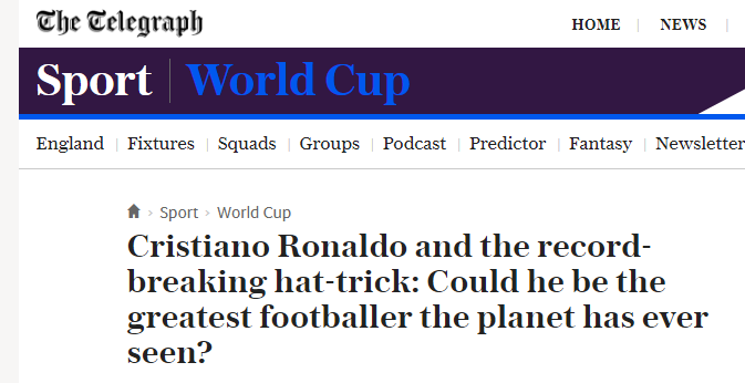 Ronaldo greatest ever footballer