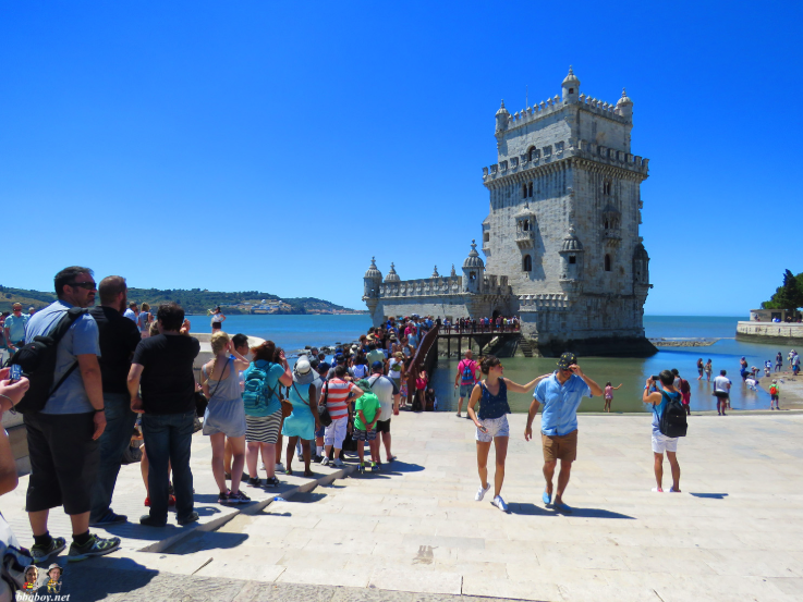 Tourists in Lisbon