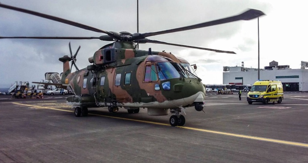 Merlin helicopter at Madeira Airport