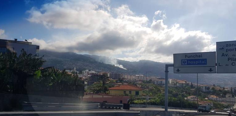 Smoke in Monte viewed from Funchal