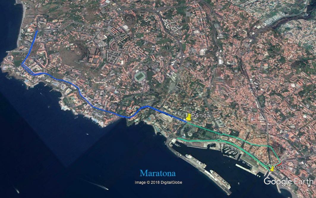 Funchal Marathon - map of course
