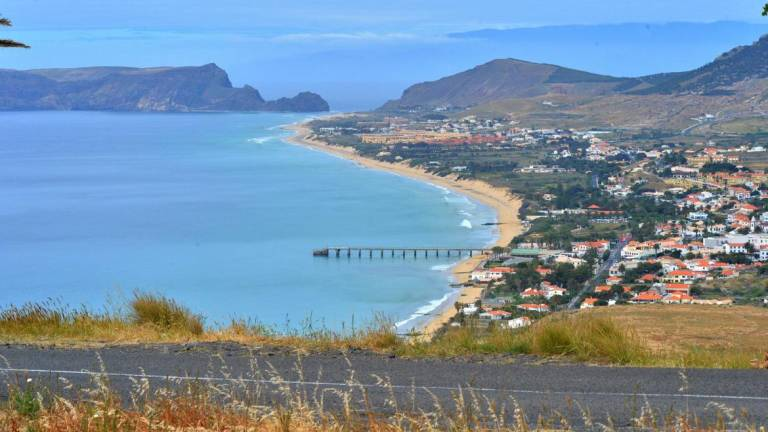 Aerial view of Porto Santo, which has submitted a UNESCO Biosphere application