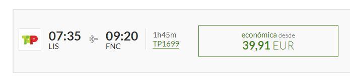 TAP cheap flights screensnap