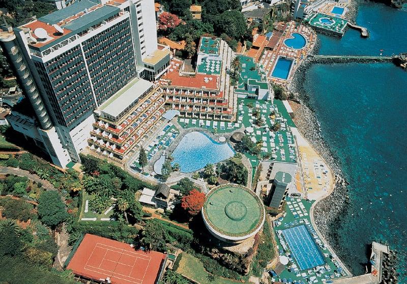 Pestana hotel in Madeira - aerial view