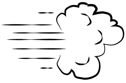 High winds clip art