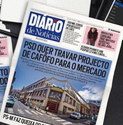 Mercado dos Lavradores on front page of Diario
