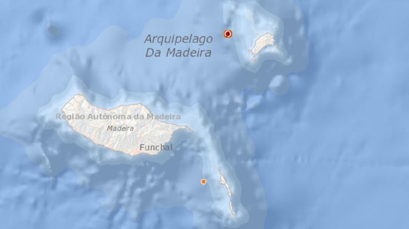 Small earthquake off Porto Santo
