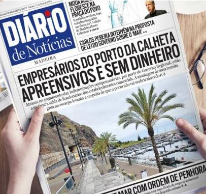 Calheta marina - headlines says businesses in trouble