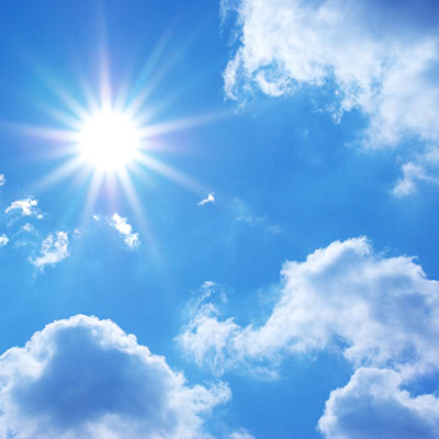 Picture of sunny days and clear skies