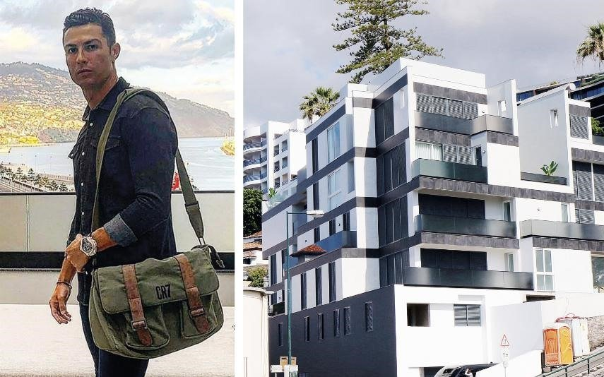 Ronaldo pictured visiting Funchal in early July. No rape charges will be brought.