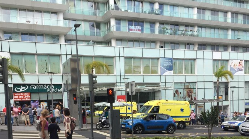 A young man died after falling from La Vie shopping centre