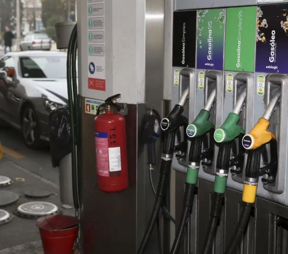 Picture of fuel pumps, as fuel prices rise