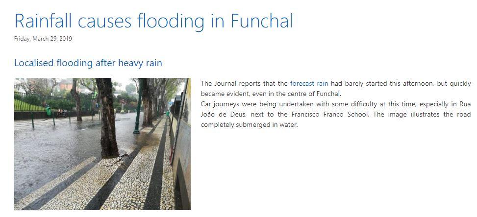 Previous floods on Rua João de Deus