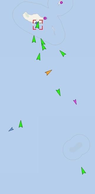 Armada of cruise ships approac Funchal
