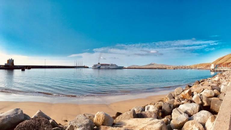 Porto Santo ferry photographed on the Golden Isle