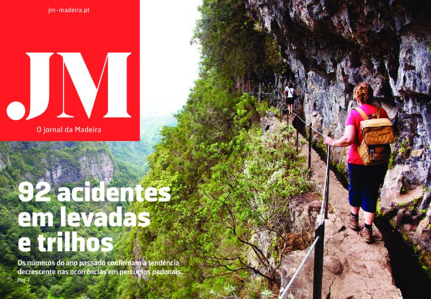 JM front page showing accidents on levadas decreasing