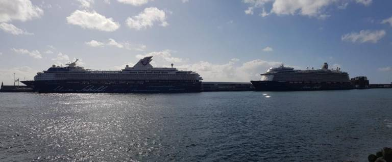 Two sisters in port in Funchal today