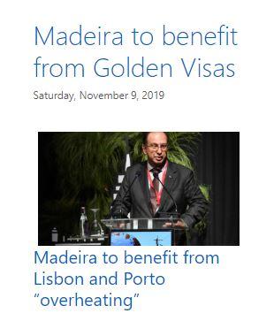 Blog post in November predicting change to Golden Visa