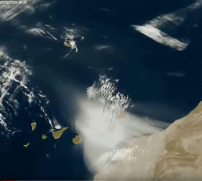 Satellite photo of dust cloud
