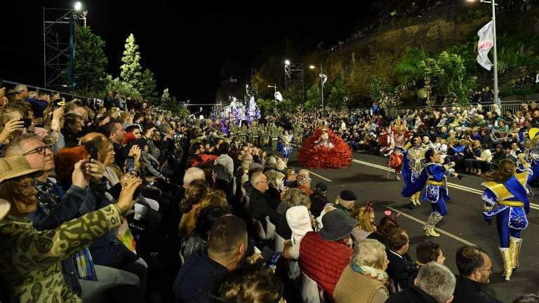 Carnival parade on the Funchal seafront