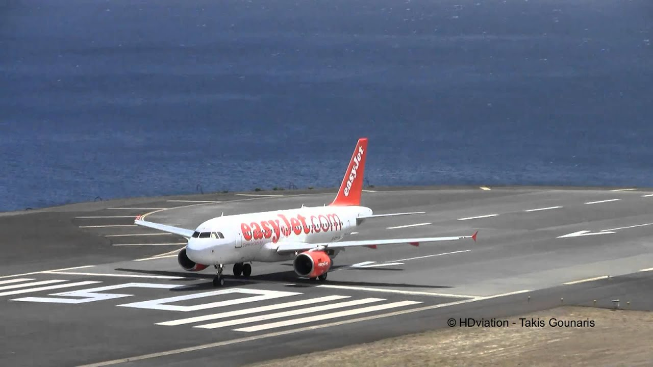 easyJet plane on madeira airport runway, where there have beenflight cancellations